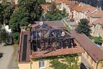 Požár budovy v Prostějově v ulici Vápenice - 3. července 2021