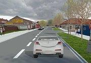 Vizualizace budoucí podoby rekonstruované Plumlovské ulice