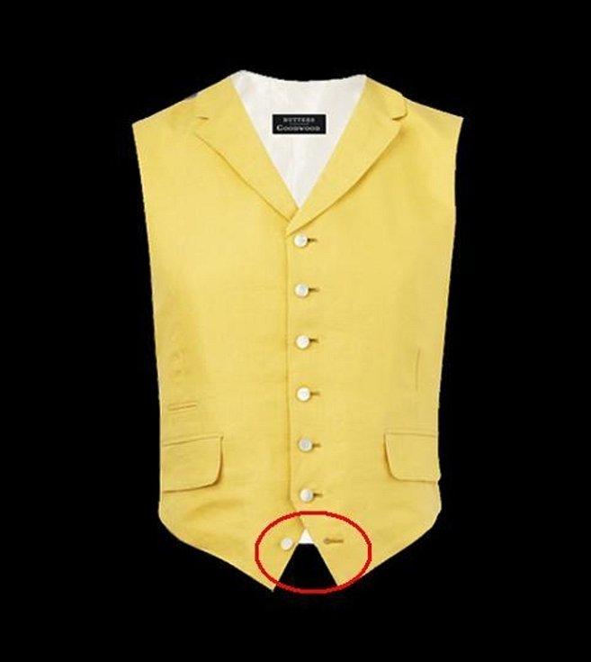 Pro novou bondovku Spectre šila prostějovská oděvní firma osmnáct obleků a šest sak. Na fotce detail vesty, kterou filmoví tvůrci požadovali.