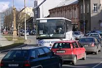 Dopravní zácpa v centru