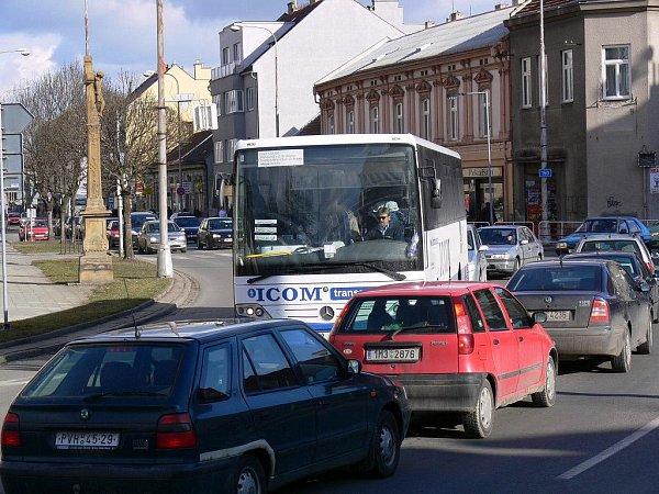 Dopravní zácpa vcentru
