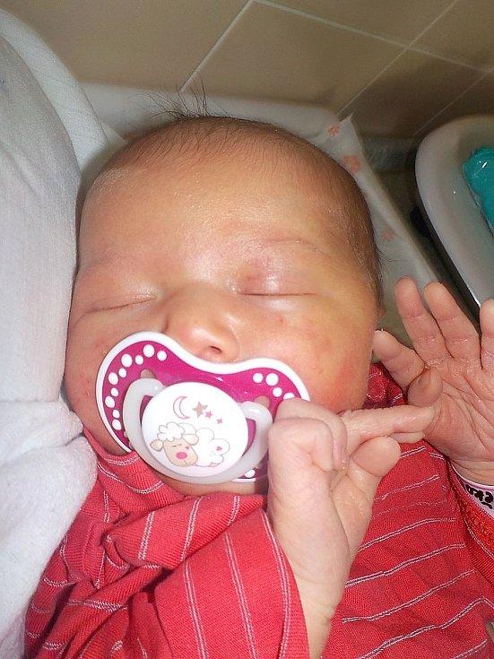 Mia Hrdličková, Prostějov, narozena 14. dubna 2021 v Prostějově, míra 48 cm, váha 3650 g