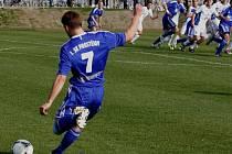 Fotbalisté 1.SK Prostějov (v modrém). Ilustrační foto