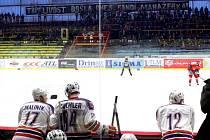 Hokejisté Prostějova slavili výhru nad Rebelem bez svých fanoušků