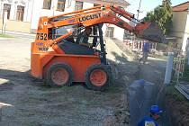 Zahájení stavby kanalizace v Kostelci na Hané