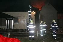 Požár střechy restaurace v Protivanově