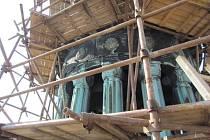 Opravy radniční věže v Prostějově