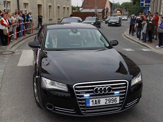 Příjezd prezidenta Klause do Němčic