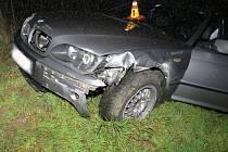 Nehoda BMW na R46 u Brodku u Prostějova