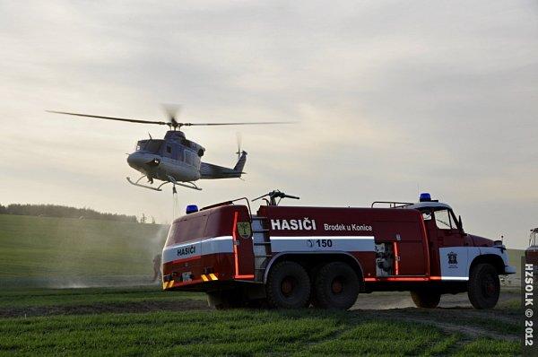 Požár lesa vPřemyslovicích - neděle 29.4.2012