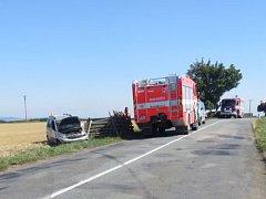 Dopravní nehoda mezi Protivanovem a Malým Hradiskem na Prostějovsku