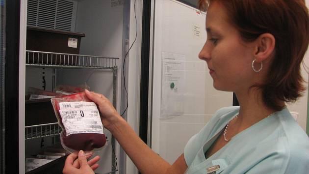 Odebranou krev lze uchovávat až šest týdnů.