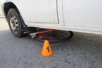Havárie cyklisty u Držovic