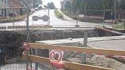 Oprava mostu na hlavním tahu v Brodku u Prostějova