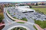 Vizualizace nové podoby prodejny Lidl v Anenské ulici v Prostějově