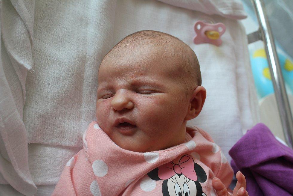Valerie Pospíšilová, Pivín, narozena 28. července 2019 v Prostějově, míra 51 cm, váha 3520 g