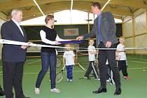 Slavnostní otevření nové tenisové haly v Prostějově