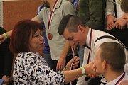 Vyhlášení výsledků v požárním útoku, Sokolovna Čelechovice na Hané