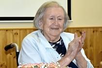 Prostějovská občanka Jarmila Vincourková, oslavila 5. srpna 2021 rovných sto let života