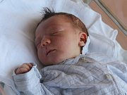 Tomáš Vlk, Tištín, narozen 29. června v Prostějově, míra 52 cm, váha 3600 g