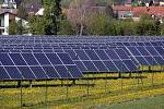 Solární elektrárna v Držovicích na Prostějovsku.