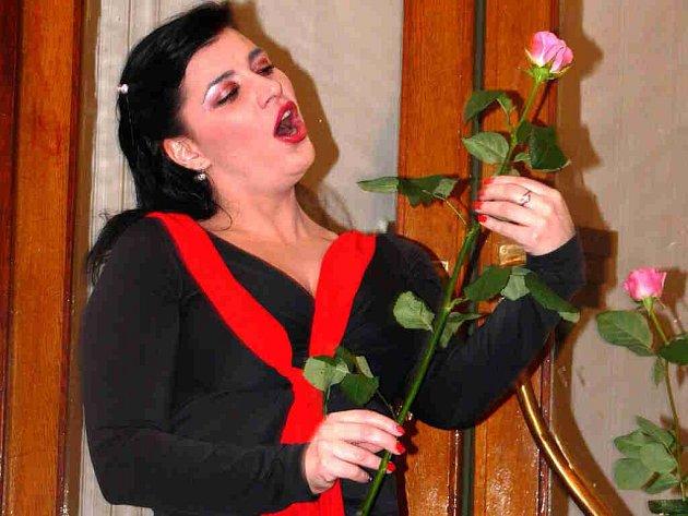 Sólistka Státní opery Praha vystoupila spolu s harfistkou Kateřinou Englichovou.