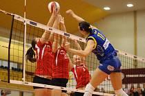 Prostějovské volejbalistky v prvním utkání čtvrtfinále play off zdolaly Ostravu 3:0.
