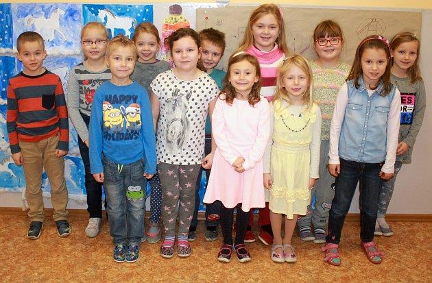 Žáci 1.B ze základní školy Určice