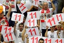Fanoušci Nymburku slaví 11. titul
