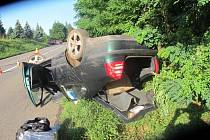 Nehoda škodovky u Plumlova