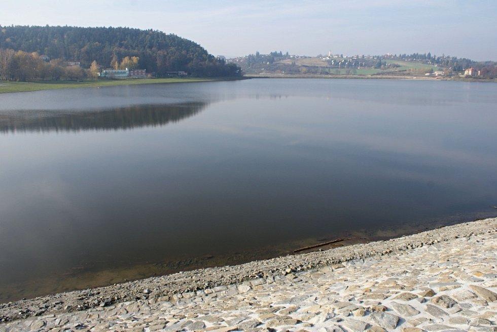 Plumlovská přehrada 1. 11. 2013 - napouštění