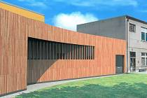 Vizualizace možné podoby plánované sportovní haly ve Vrbátkách