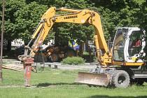 Rekonstrukce prostějovského náměstí Spojenců začala