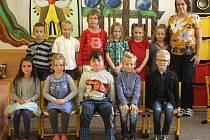 Žáci 1. třídy ze ZŠ Čechy pod Kosířem