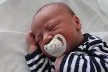 Šimon Bečka, Prostějov, narozen 20. března v Prostějově, míra 52 cm, váha 3550 g
