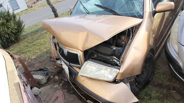 Nehoda fabie v obci Dřevnovice