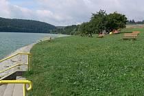 Plumlovská přehrada zeje prázdnotou