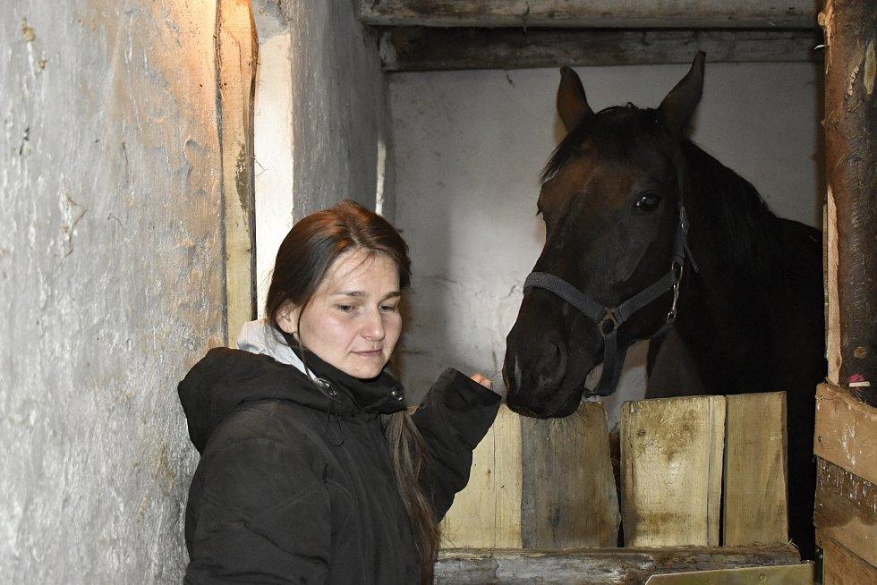 Chovatelka koní Eva Foukalová našla v Srbcích nový domov pro svou rodinu i zvířata.