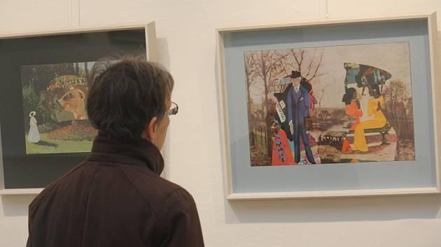 Výstava světoznámého výtvarníka Jiřího Koláře je v těchto dnech k vidění v prostějovském Muzeu a galerii.