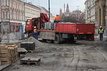 Rekonstrukce prostor před prostějovskou radnicí