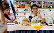 Jaromír Jágr na zahájení tenisového Mistrovství světa družstev hráčů do čtrnácti let v Prostějově