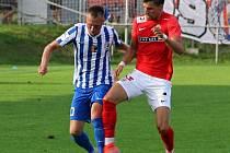 Prostějov ve druhé lize překvapivě porazil Brno 2:0. Jan Koudelka, Jiří Texl.