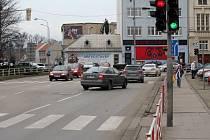 Křižovatka na Poděbradově náměstí