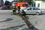 Nehoda v Dobrovského ulici v Prostějově