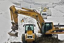Rekonstrukce hráze plumlovské přehrady - leden 2013