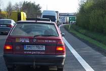 Kolony na dálnici. IIustrační foto