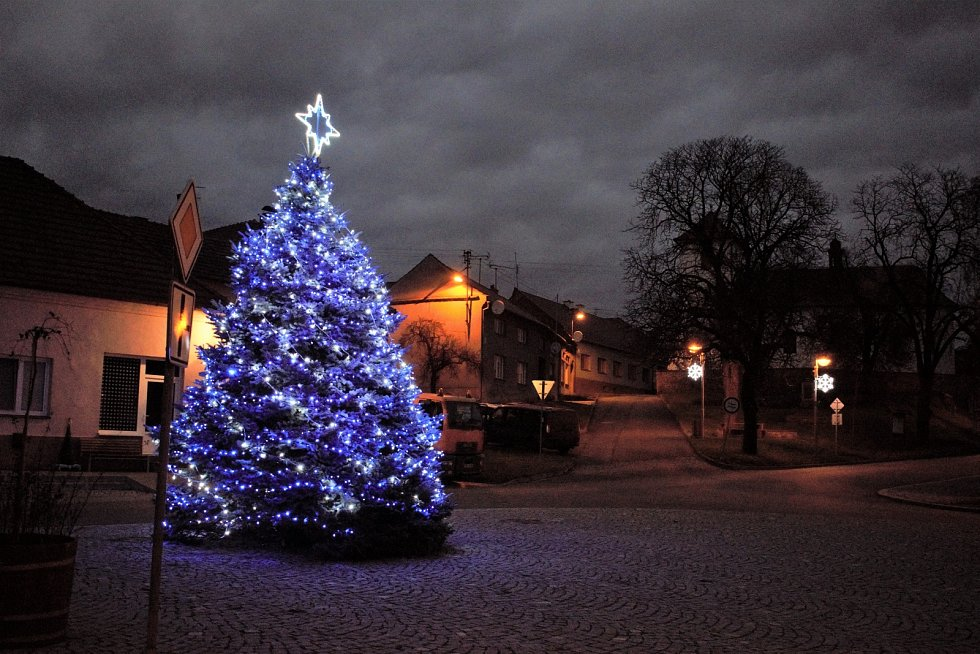 Vánoční strom 2020 ve Vranovicích-Kelčicích