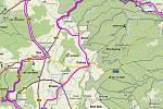 Mapka Relaxační cyklotrasy