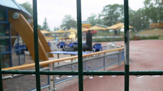 Aquapark se zazimuje.