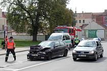 Nehoda u prostějovských městských lázní